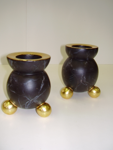 Turned candleholders  1170